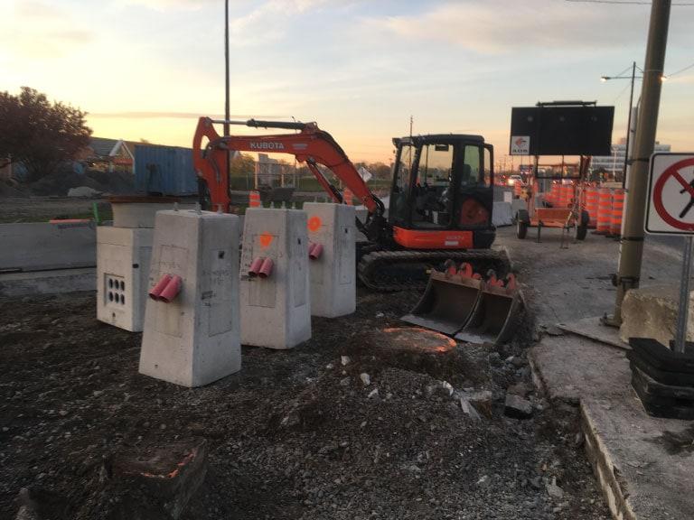 Excavation - Installation cablage sous-terrain